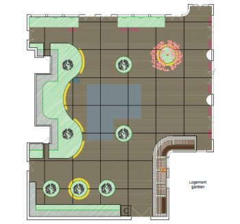 Plan of the Charles Hermite Oasis Courtyard, Paris