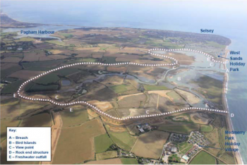 The managed realignment project at Medmerry is the biggest on the open-coast in Europe (Image: Environment Agency)