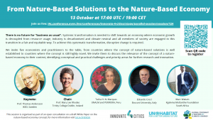 """[UN Habitat Live Conference] URBiNAT speaker on panel to discuss """"From Nature-Based Solutions to the Nature-Based Economy"""""""